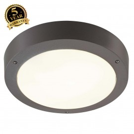 SLV 232425 DRAGAN SENSOR wall and ceilinglight, anthracite, E27, max.2x 24W, IP44, with sensor