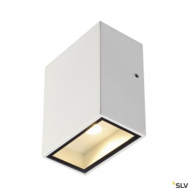 SLV 232431 QUAD 1 XL wall light, square,white, 3.2W COB LED, 3000K,IP44