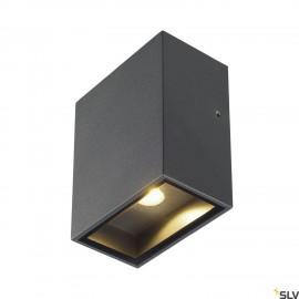 SLV 232435 QUAD 1 XL wall light, square,anthracite, 3.2W COB LED,3000K, IP44
