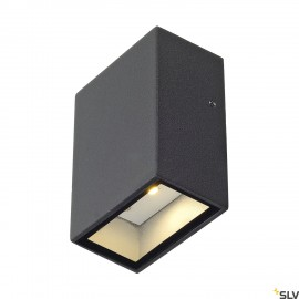 SLV 232465 QUAD 1 wall light, square,anthracite, LED, 1x3W, 3000K,IP44