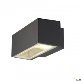SLV 232485 BOX R7s wall light, square,anthracite, R7s, max. 80W,up-down, IP44