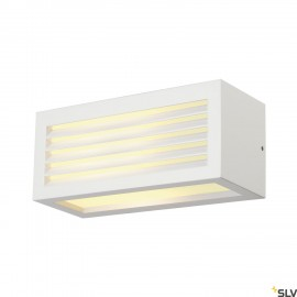 SLV 232491 BOX-L E27 wall light, square,white, E27, max. 18W, IP44