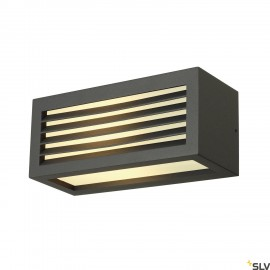 SLV 232495 BOX-L E27 wall light, square,anthracite, E27, max. 18W,IP44