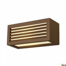 SLV 232497 BOX-L E27 wall light, square,rust, E27, max. 18W, IP44