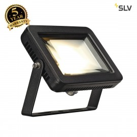 SLV 232800 SPOODI LED spot, square, black, 8.3W COB LED, 3000K, IP55