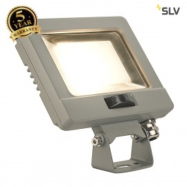 SLV 232864 SPOODI SENSOR, LED Outdoor surface-mounted wall light, 11W, silver-grey, 3000K