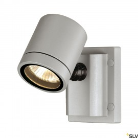 SLV 233104 NEW MYRA WALL LIGHT,silver-grey, GU10, max. 50W,IP55