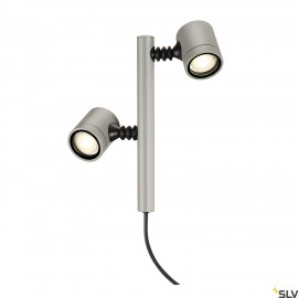 SLV 233184 NEW MYRA 2 lamp head,silver-grey, 2x GU10, max. 2x4W, IP44