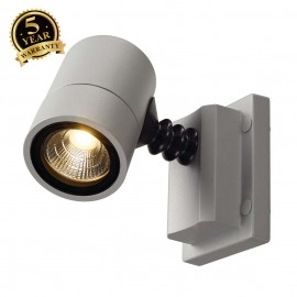 SLV 233204 MYRALED WALL, wall light,silver-grey, 5W, 3000K, IP55