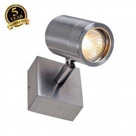 SLV 233300 ASTINA single spot, QPAR51wall light, stainless steel304, GU10, max. 35W