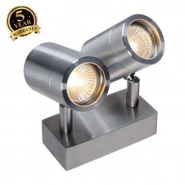 SLV 233301 ASTINA double spot, QPAR51wall light, stainless steel304, 2xGU10, max. 2x35W
