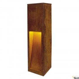 SLV 233447 RUSTY 50 LED SLOT floor stand,rusted iron, 8.6W COB LED,3000K, IP55
