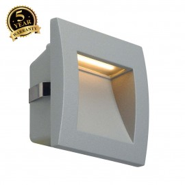 SLV 233604 DOWNUNDER OUT LED S recessedwall light, silver-grey, SMDLED 3000K, IP55