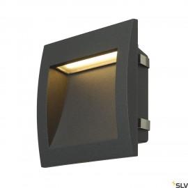 SLV 233615 DOWNUNDER OUT LED L recessedwall light, anthracite, SMDLED 3000K, IP55