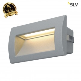 SLV 233624 DOWNUNDER OUT LED M recessedwall light, silver-grey, SMDLED 3000K, IP55