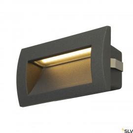 SLV 233625 DOWNUNDER OUT LED M recessedwall light, anthracite, SMDLED 3000K, IP55