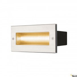 SLV 233650 BRICK, outdoor recessed wall light, LED, 3000K, stainless steel, IP67, 230V, 950lm 10W