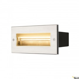 SLV 233660 BRICK, outdoor recessed wall light, LED, 3000K, stainless steel, 230V, IP67, 850lm, 10W
