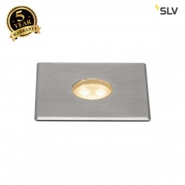 SLV 233702 DASAR Premium LED 100,inground fitting, square, 6W,24°, 3000K