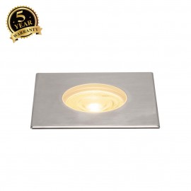 SLV 233772 DASAR Premium LED 180,inground fitting, square, 50W,24°, 3000K