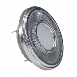 SLV 551412 LED QRB111 lamp, silver-grey,19.5W, 140°, 2700K, dimmable