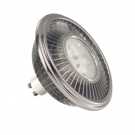SLV 570672 LED ES111 LAMP, 15.5W PowerLED, silver-grey, 30°, 2700K
