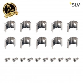 SLV 631523 MOUNTING CLIPS, for DELF D light bars, 45°, 10 pieces