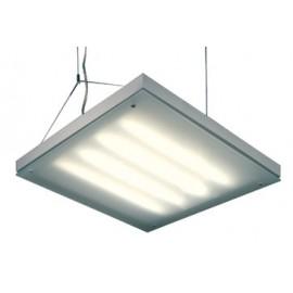 SLV Lighting T5 Grill Pendant Light Silver Grey 157102