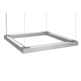 SLV Lighting T5 Open Grill Pendant Light Silver Grey 157334
