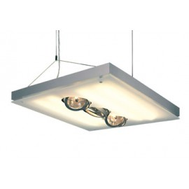 SLV Lighting T5 Grill QRB Pendant Light Silver Grey 157112
