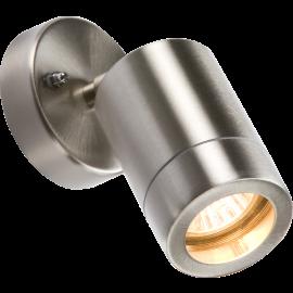 Knightsbridge WALL3L 230V IP65 GU10 35W Lightweight Stainless Steel Adjustable Wall Light