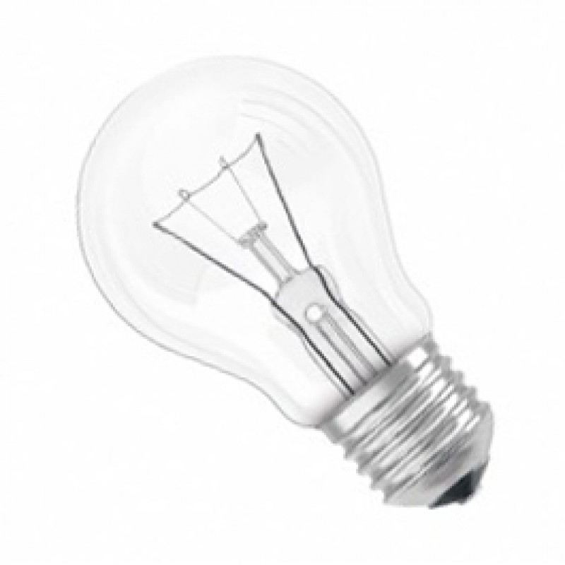 ES E27 60W GLS Lamp Clear Pack Of 10 GLSES60