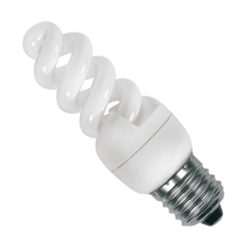 SES E14 7W Cool White Compact Fluorescent Lamp SES07CFC