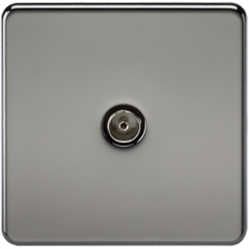 Knightsbridge SF0100BN 1G TV Coax Outlet Non-Isolated Black Nickel