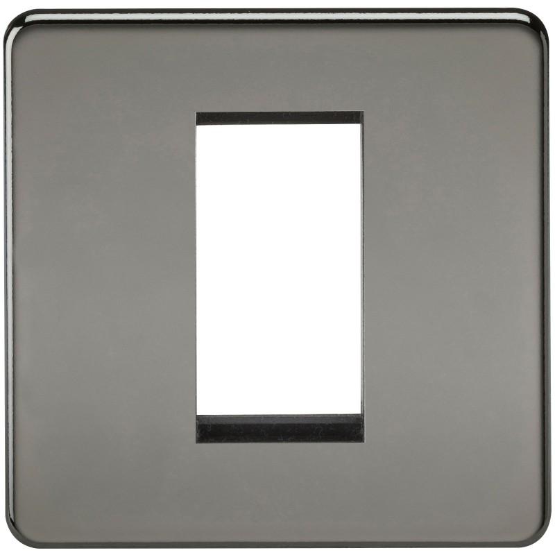 Knightsbridge SF1GBN Screwless 1G Modular Faceplate - Black Nickel