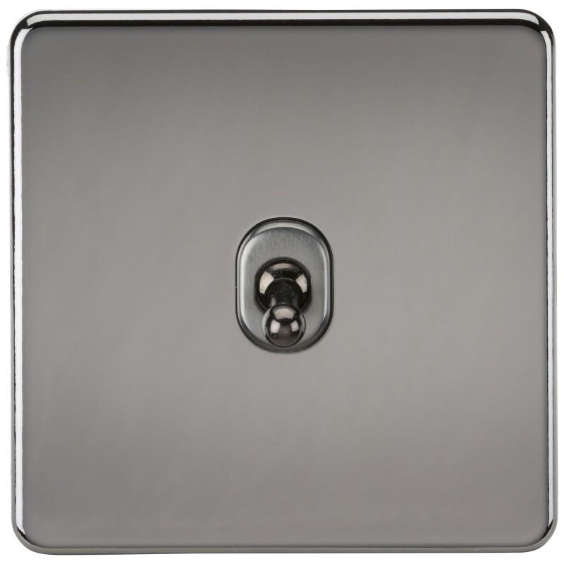 Knightsbridge SF1TOGBN Screwless 10A 1G 2-Way Toggle Switch - Black Nickel