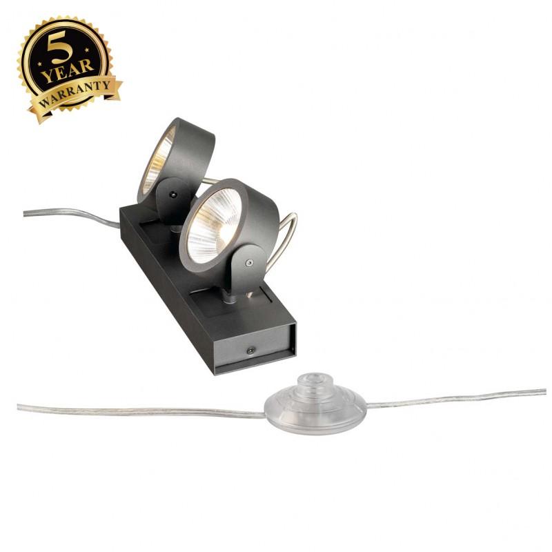 SLV 1000141 KALU LED 2 FLOOR Floor luminaire, black, 3000K, 60°