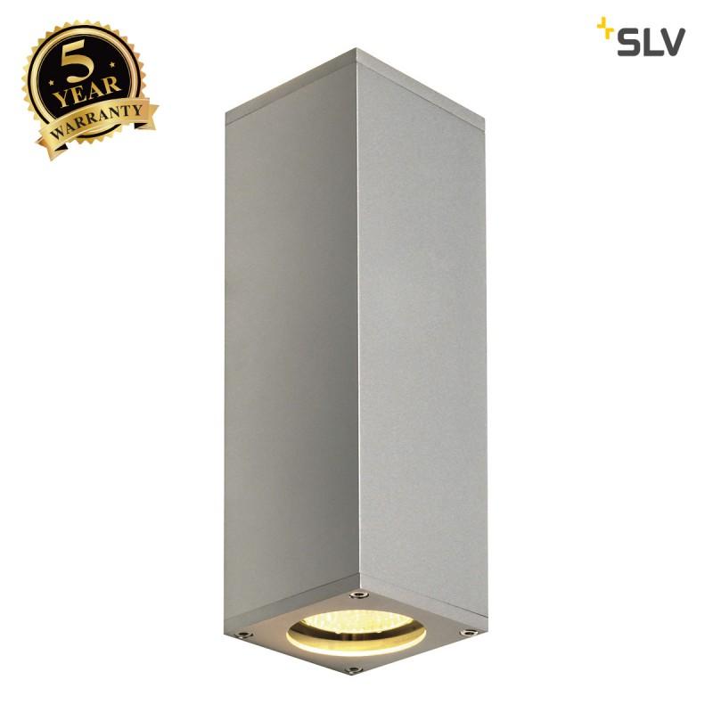 SLV 1000328 THEO UP/DOWN, QPAR51, Wall luminaire, silvergrey, max. 2x50W