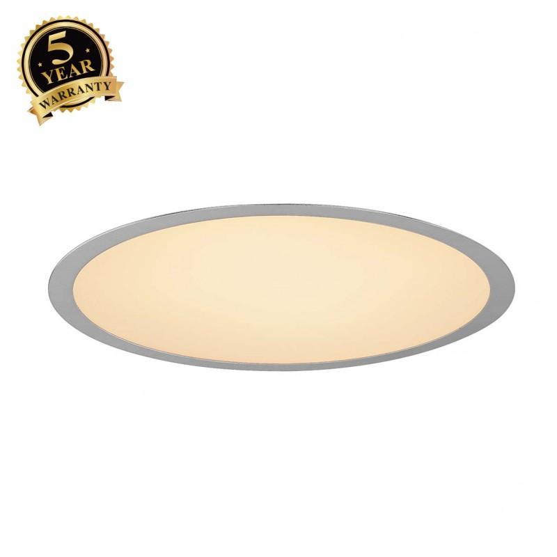 SLV 1000853 MEDO 30 LED Recessed ceiling luminaire, silvergrey, 1-10V, 3000K