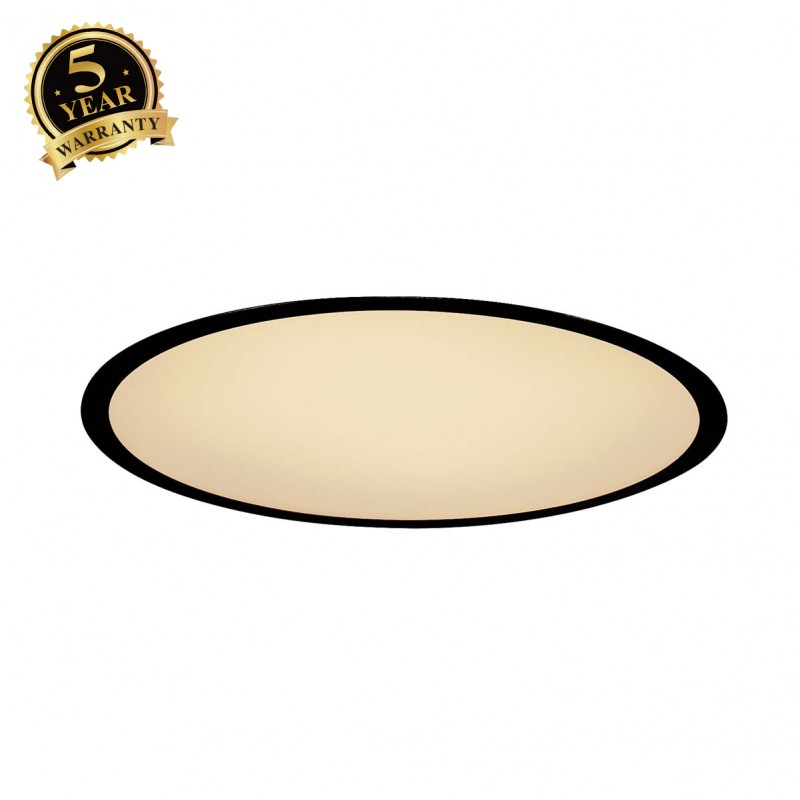 SLV 1000860 MEDO 40 LED Recessed ceiling luminaire, black, 1-10V, 3000K