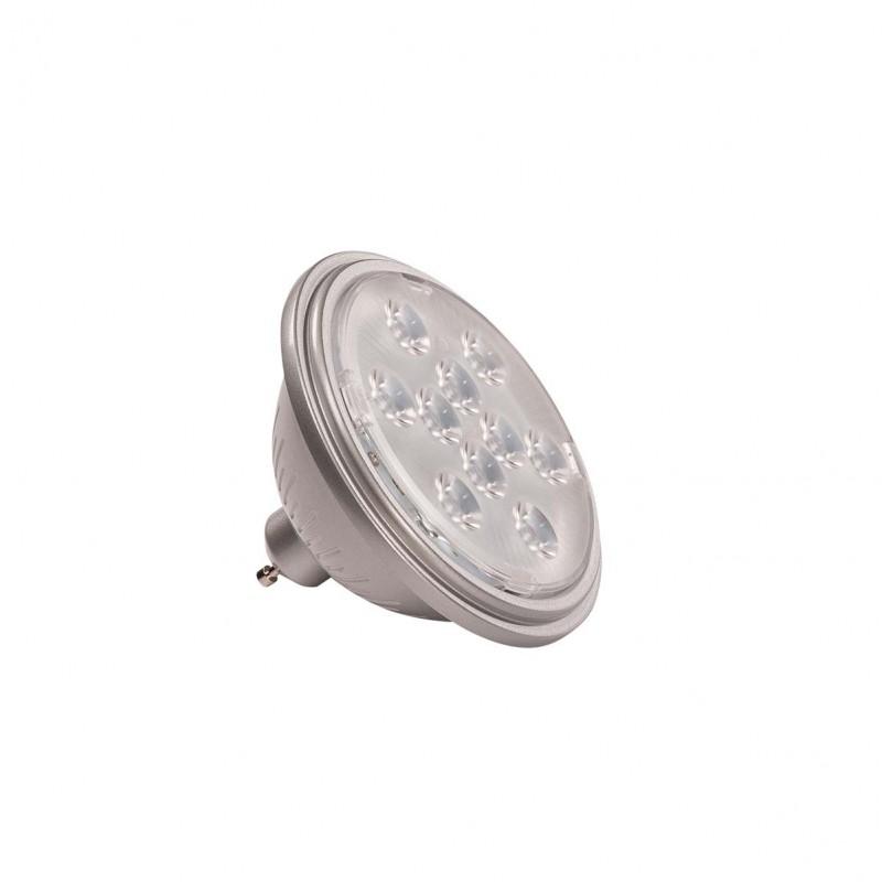 SLV 1000939 LED QPAR111 GU10 Bulb, 13°, silvergrey, 2700K, 730lm