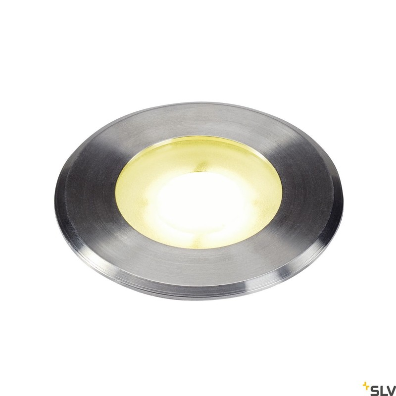 Intalite 1002188I DASAR® Flat, outdoor LED recessed floor light, stainless steel 304, 4000K, IP67, 4.3W
