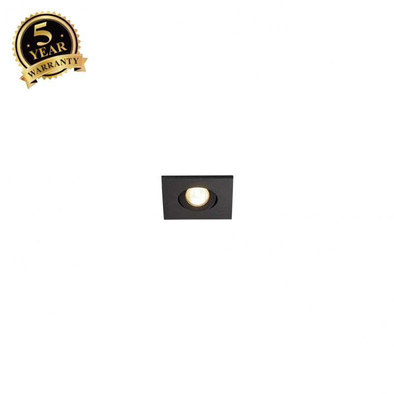 SLV 114410 NEW TRIA MINI DL SQUARE SET,matt black, 3W, 30°, 3000K,incl. mini plug, clip springs