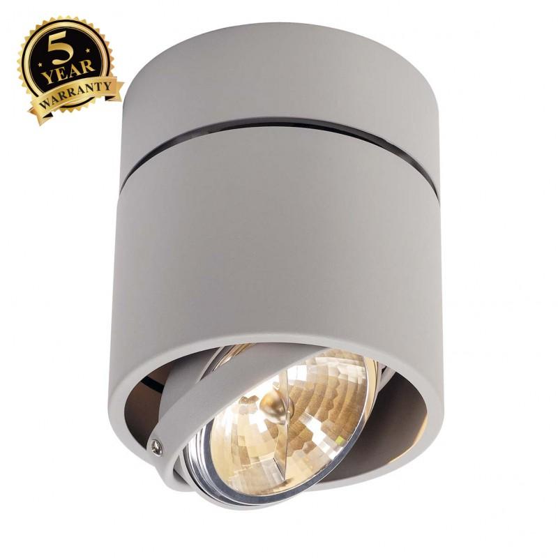 SLV 117174 KARDAMOD SURFACE ROUND QRBSINGLE ceiling light, round,silver-grey, max. 50W