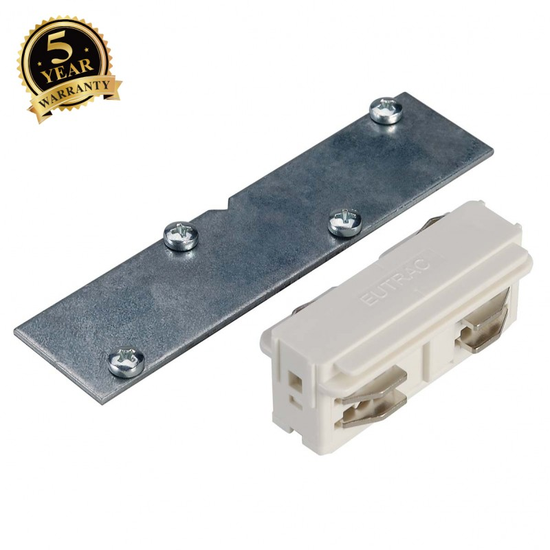 SLV 145571 EUTRAC direct connector for3-circuit recessed track,white, electrical/mechanical