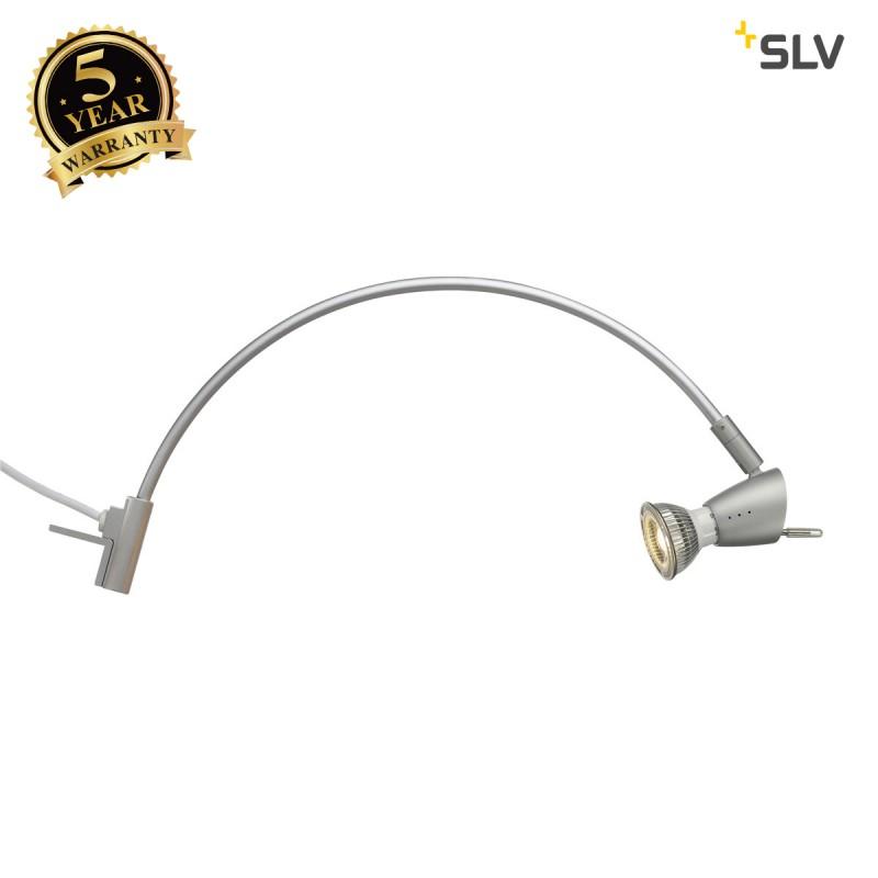 SLV 146462 HIBIT display fitting,silver-grey, GU10, max. 75W