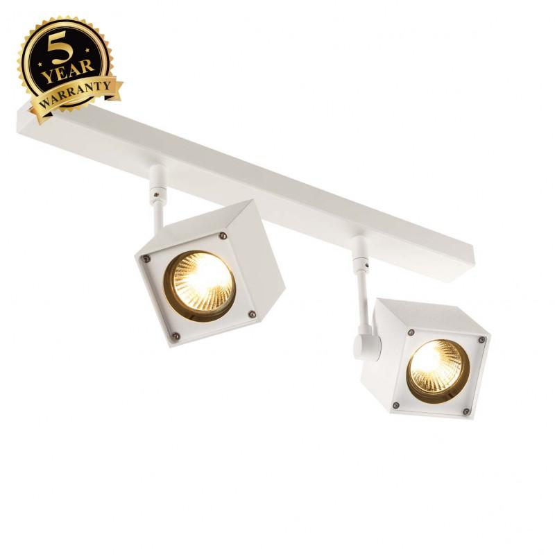 SLV 151171 ALTRA DICE 2 ceiling light,square spots, white, 2x GU10,max. 2x 50W