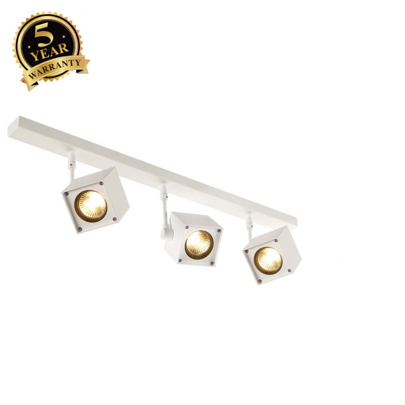 SLV 151181 ALTRA DICE 3 ceiling light,square spots, white, 3x GU10,max. 3x 50W