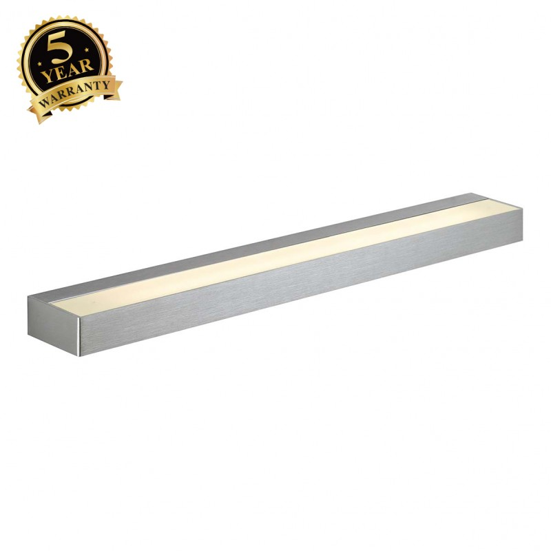 SLV 151762 SEDO 14 wall light, square,alu brushed, glass frosted, G5, Energy Saver, 14W
