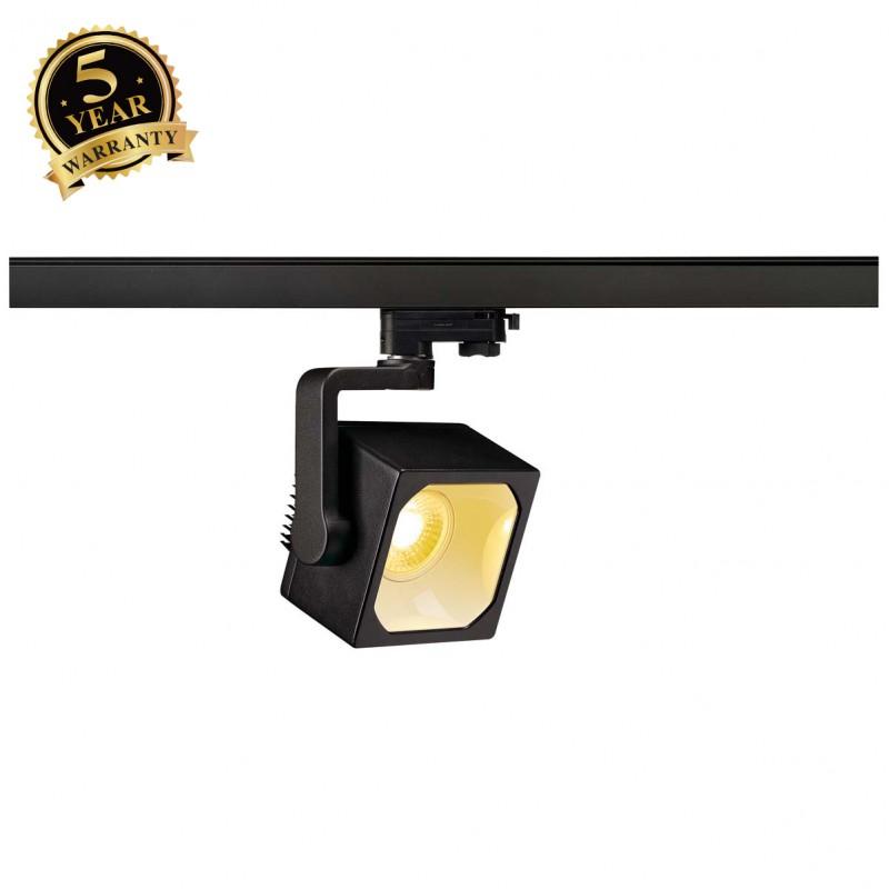 SLV 152740 EURO CUBE SPOT, black, 30°,3000K COB LED, CRI90, incl.3-circuit adapter